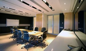 Commercial audiovisual boardroom